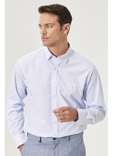 Beymen Business Regular Fit Baskılı Gömlek 4B2020200019 Beyaz